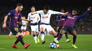 Heung-Ming Son Thomas Vermaelen Nelson Semedo Barcelona Tottenham UCL 11122018