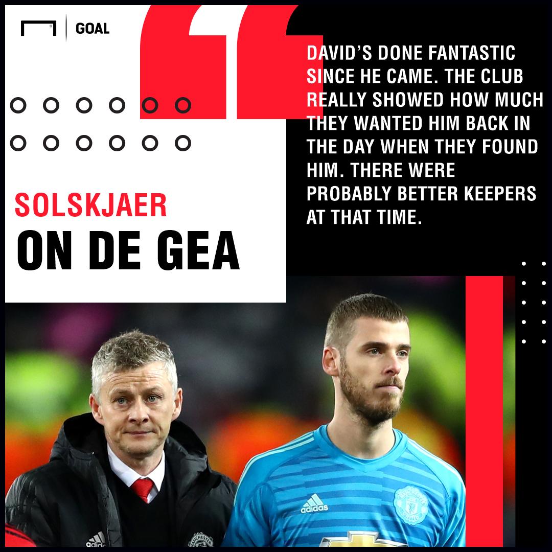 Ole Gunnar Solskjaer David de Gea Manchester United