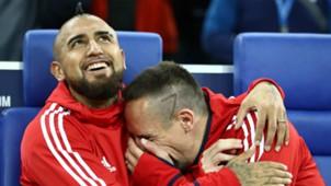 Franck Ribery Arturo Vidal Bayern Munchen
