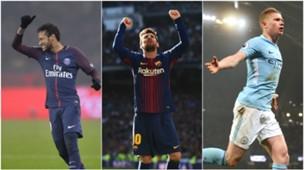 Neymar, De Bruyne, Messi & Pencipta Assist Terbanyak Eropa