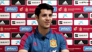 Alvaro Morata, Spain and Atletico player, during the interview with Goal