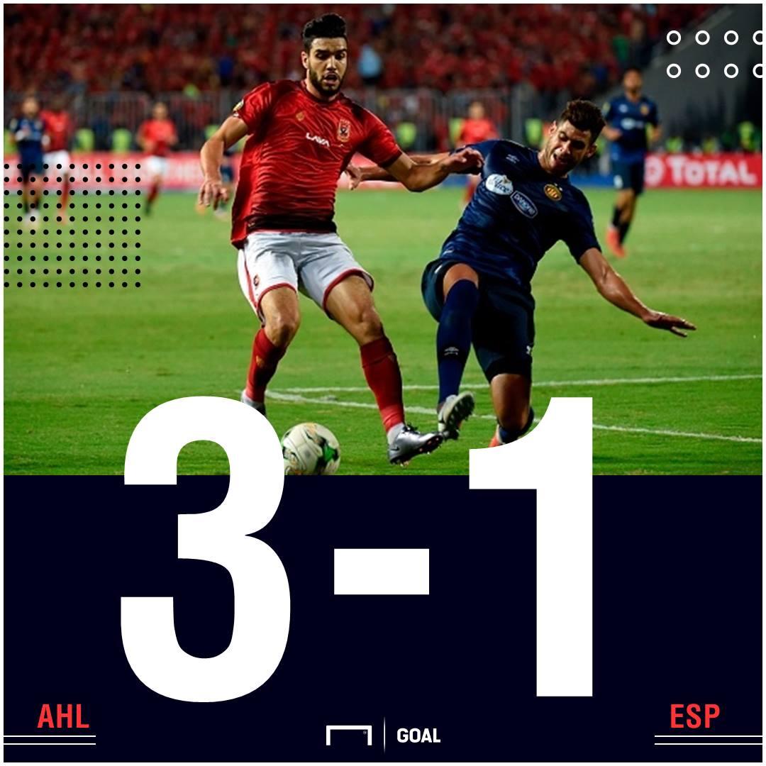 Al Ahly Esperance scoreline PS