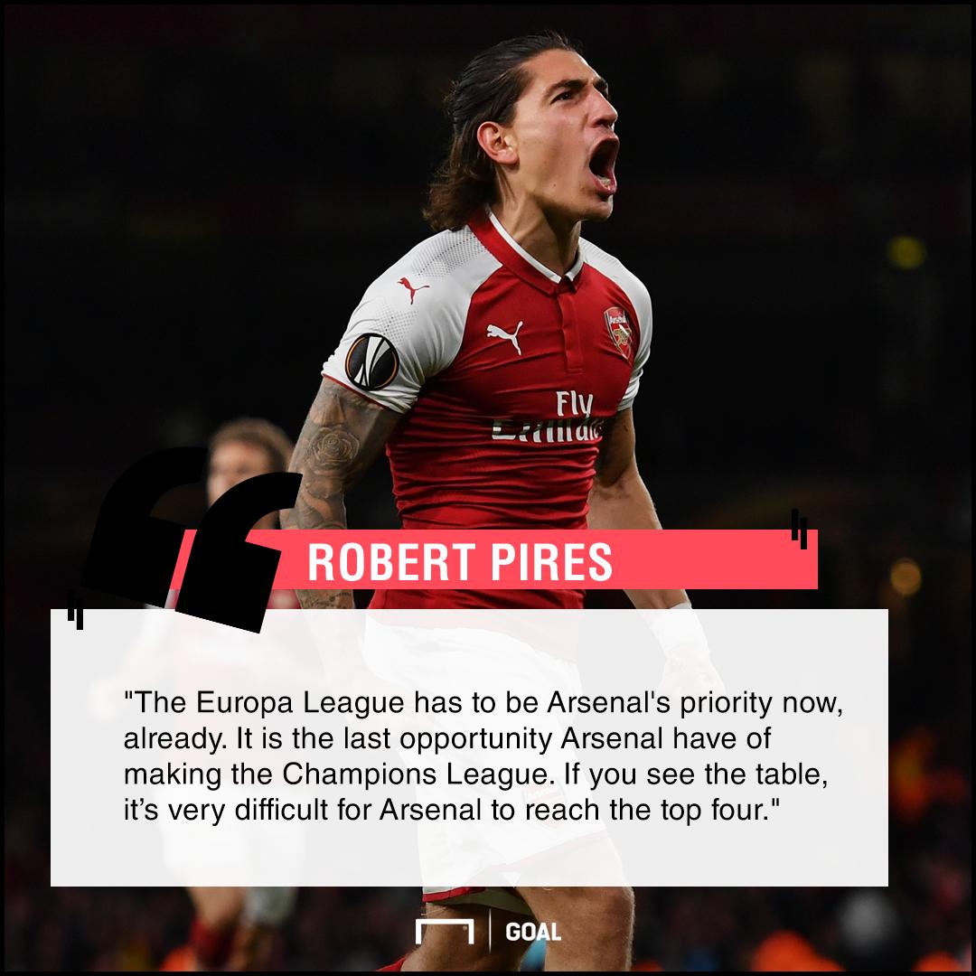 Robert Pires Arsenal Europa League priority