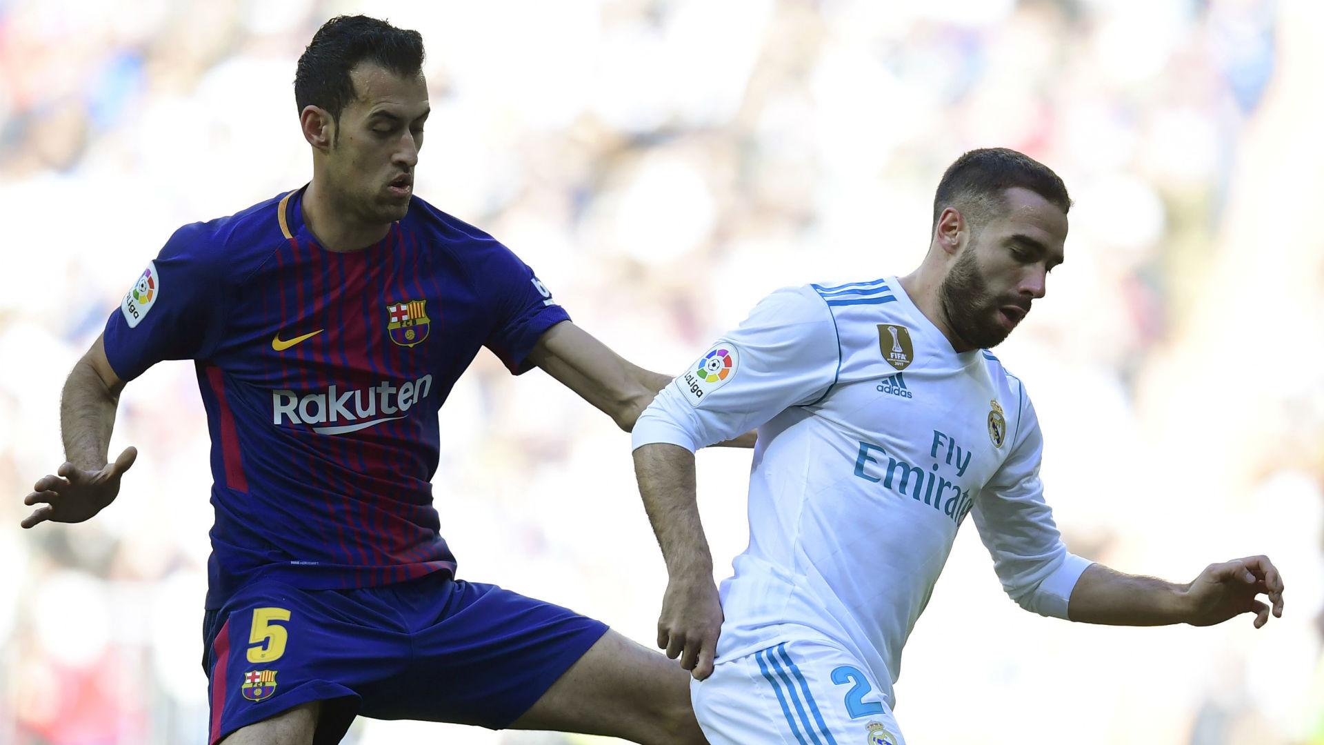 Sergio Busquets Barcelona Dani Carvajal Real Madrid