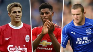Michael Owen, Marcus Rashford, Wayne Rooney composite
