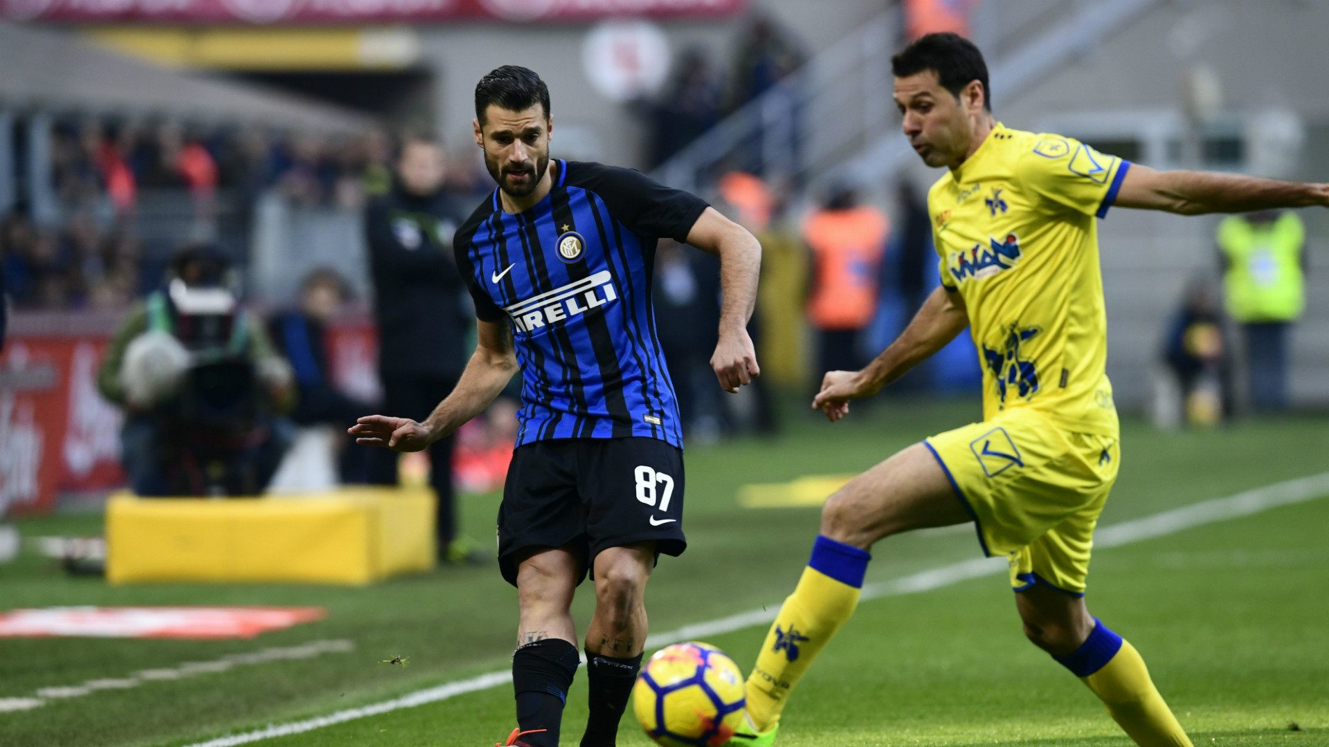 Antonio Candreva Massimo Gobbi Inter Chievo Serie A
