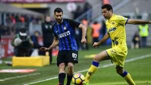 Antonio Candreva Massimo Gobbi Inter Chievo Serie A