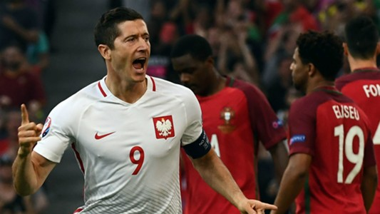 Lewandowski Poland Portugal Euro 2016