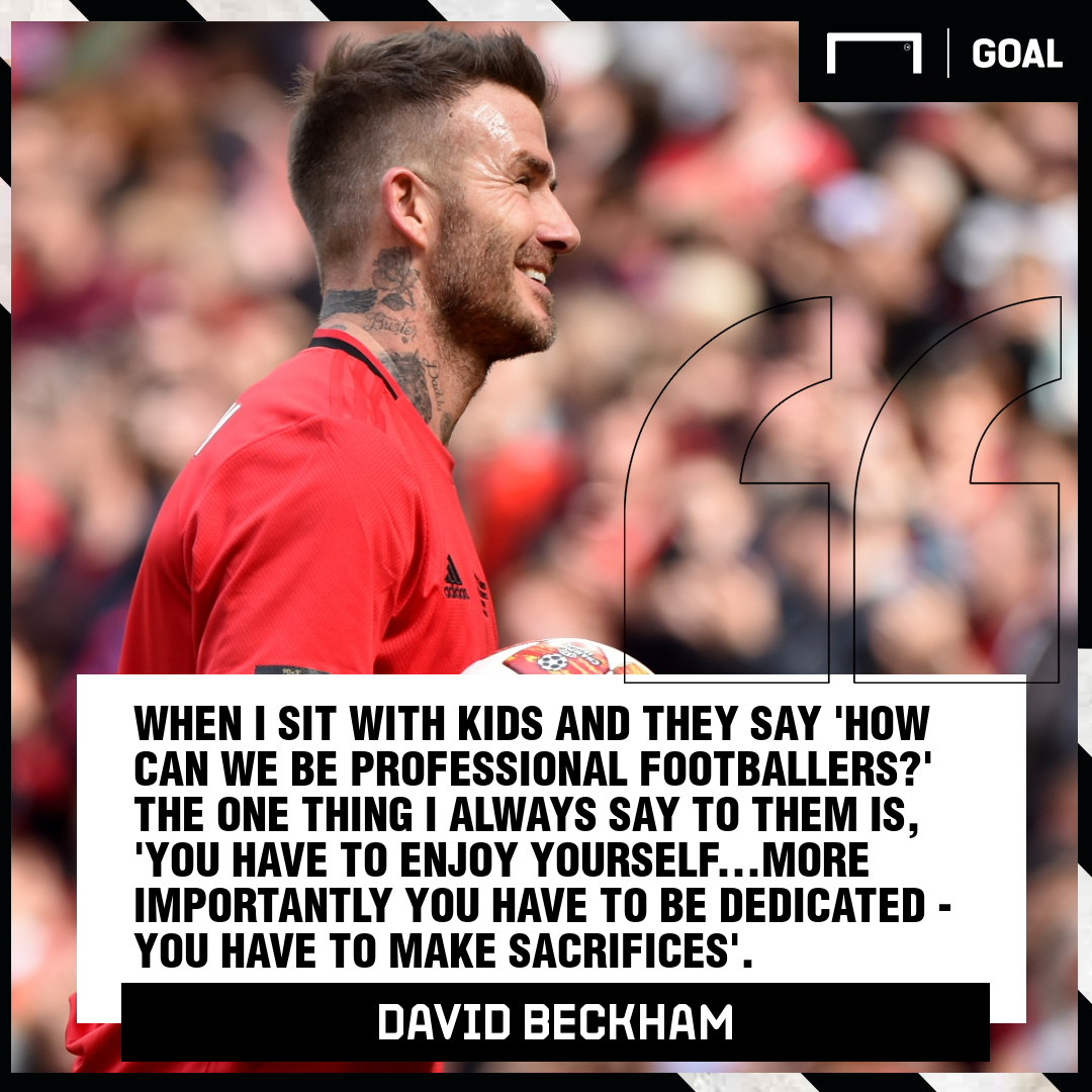 GFX David Beckham quote sacrifice