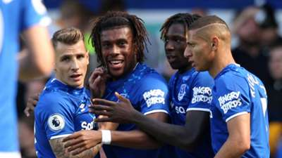 Alex Iwobi celebration, Everton vs Wolves