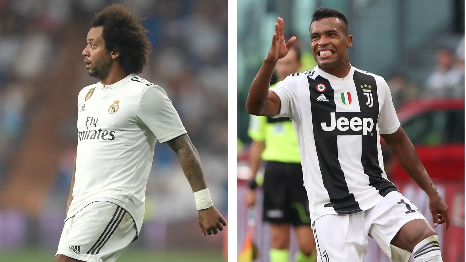 Juventus, Marcelo potrebbe arrivare in cambio di Alex Sandro: Perez ci pensa
