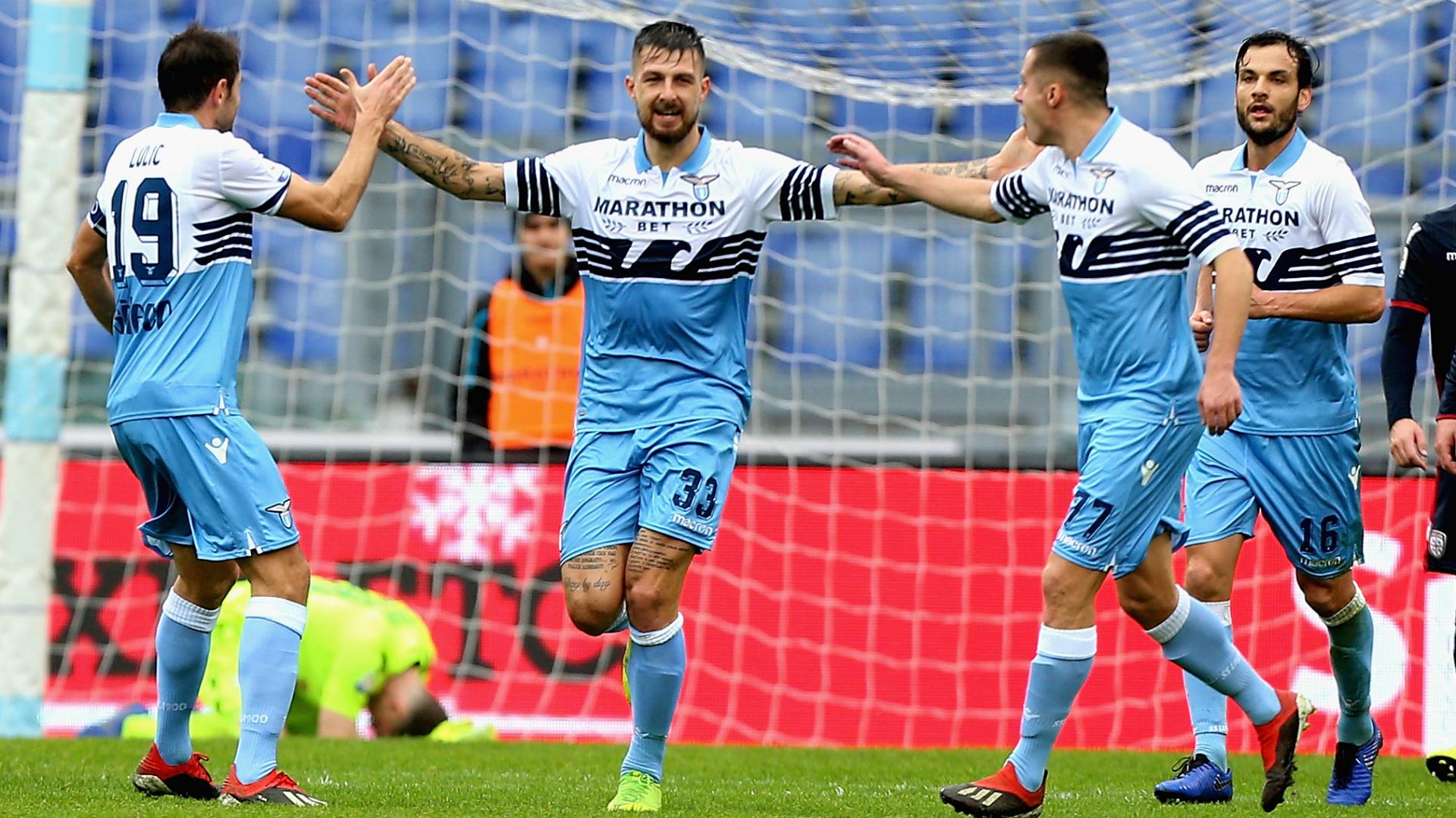 Francesco Acerbi Senad Lulic Marco Parolo Lazio Cagliari Serie A