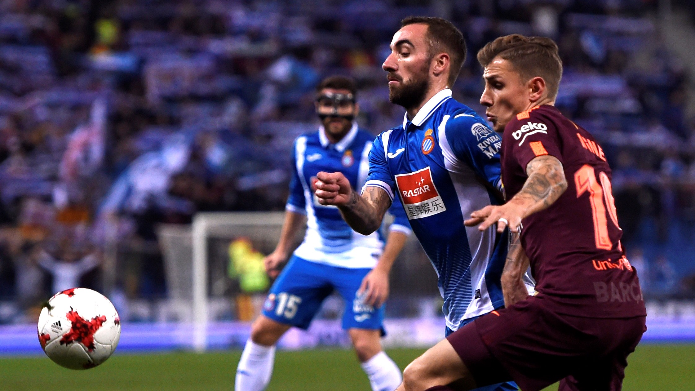 Sergi Darder Lucas Digne Espanyol Barcelona Copa del Rey 17012018