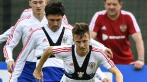 Aleksandr Golovin Russia training World Cup 2018