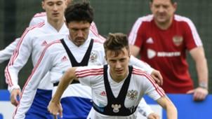 Aleksandr Golovin Russia training World Cup 2018