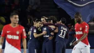 PSG celebration against Monaco