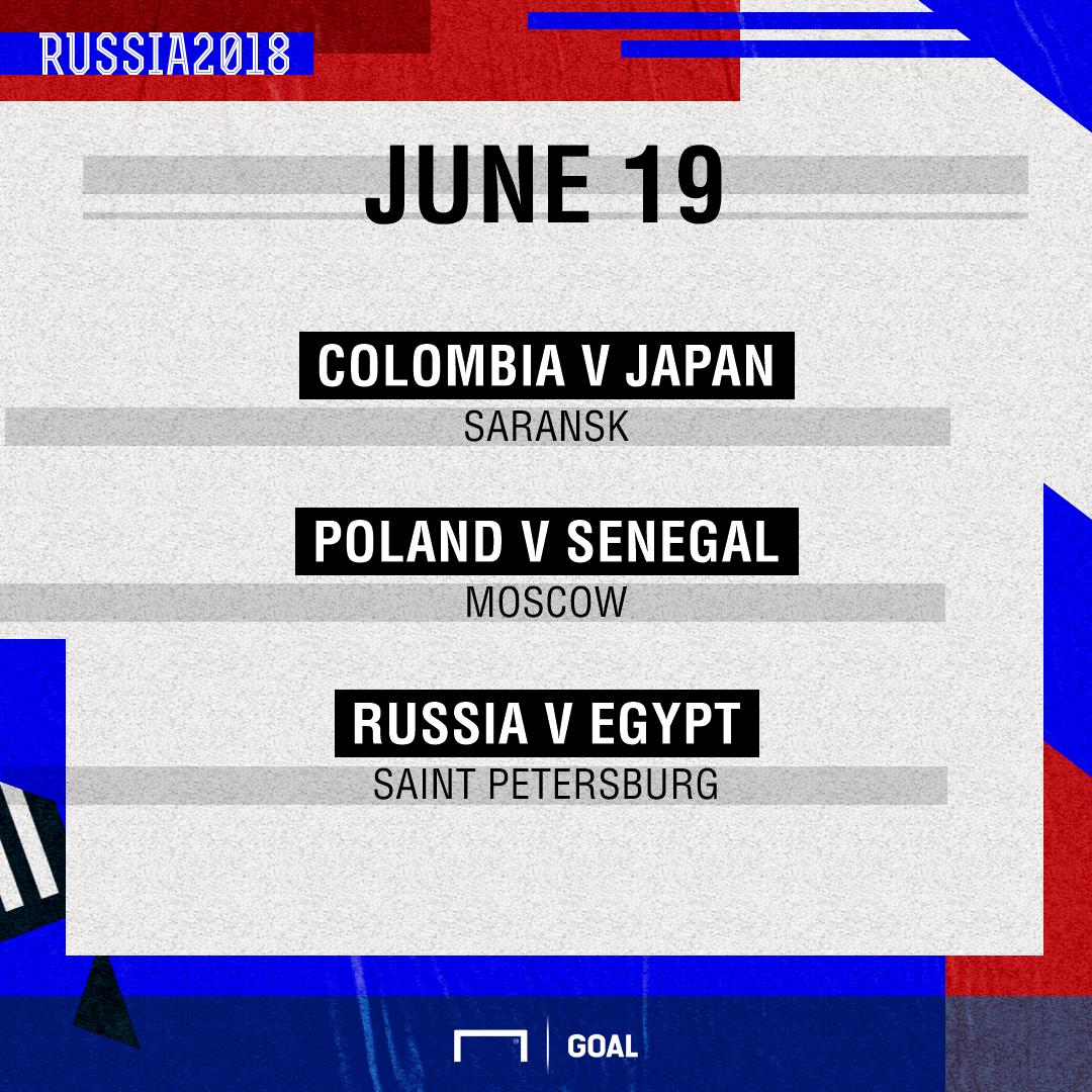June 19 Fixtures
