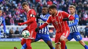 Javi Martinez Thomas Müller Salomon Kalou FC Bayern München Hertha BSC Berlin