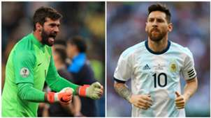 Alisson Becker Lionel Messi Brazil Argentina Copa America 2019