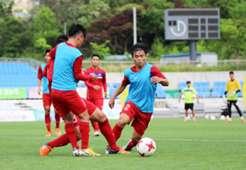 U20 Việt Nam tập ngày thứ 2 ở Trung tâm Mokpo