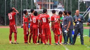 Selebrasi Indonesia U-22 & Myanmar U-22