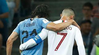 Edinson Cavani Cristiano Ronaldo Uruguay Portugal World Cup