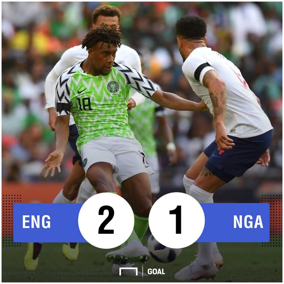 England Nigeria Scoreline PS
