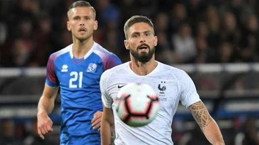 Olivier Giroud Arnaur Traustason France Iceland Friendly 11102018