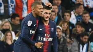 Kylian Mbappe Marco Verratti Marseille PSG Ligue 1 28102018
