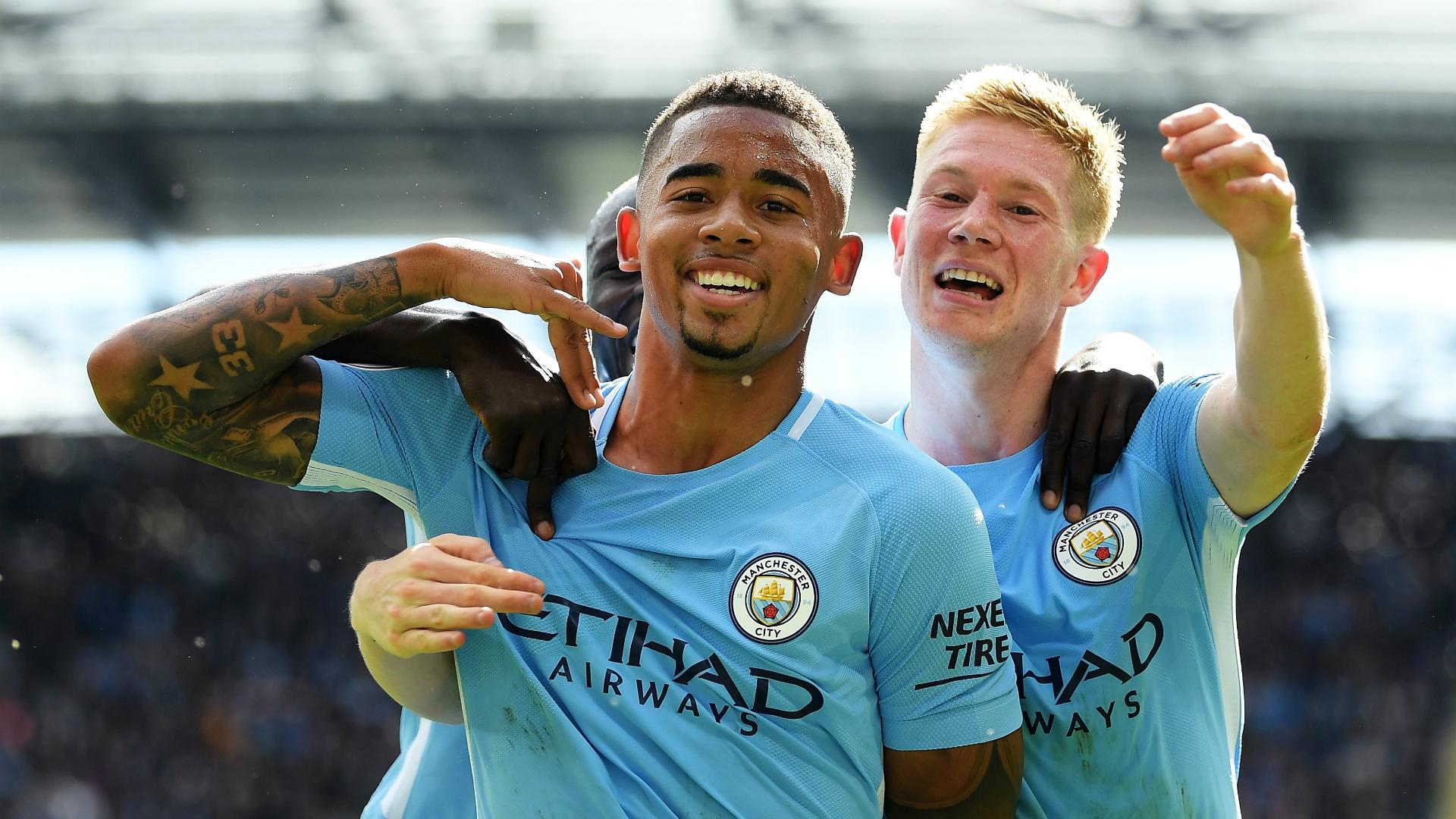 Kevin De Bruyne Gabriel Jesus Manchester City