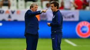 Gary Neville and Roy Hodgson Euro 2016