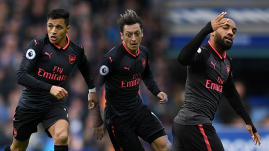 Alexis, Ozil, Lacazette split