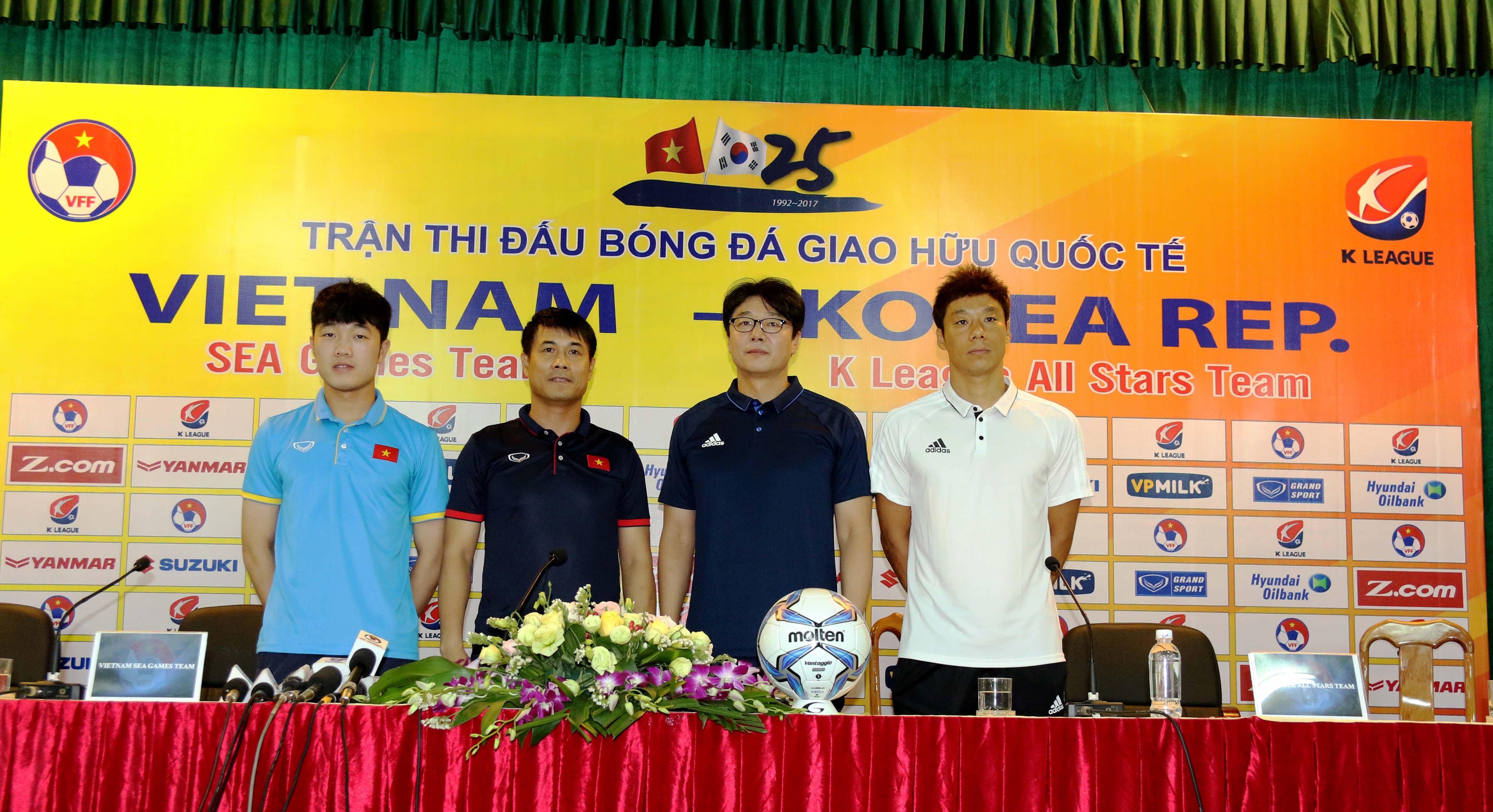 Họp báo U22 Việt Nam K League All Stars