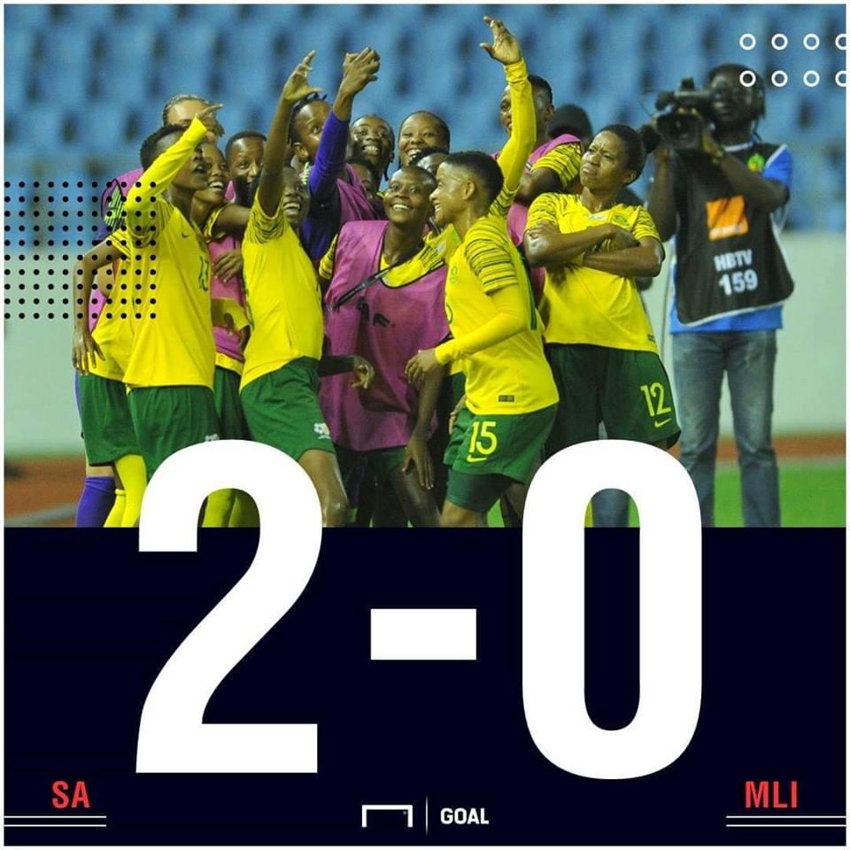 SA Mali AWCON scoreline PS
