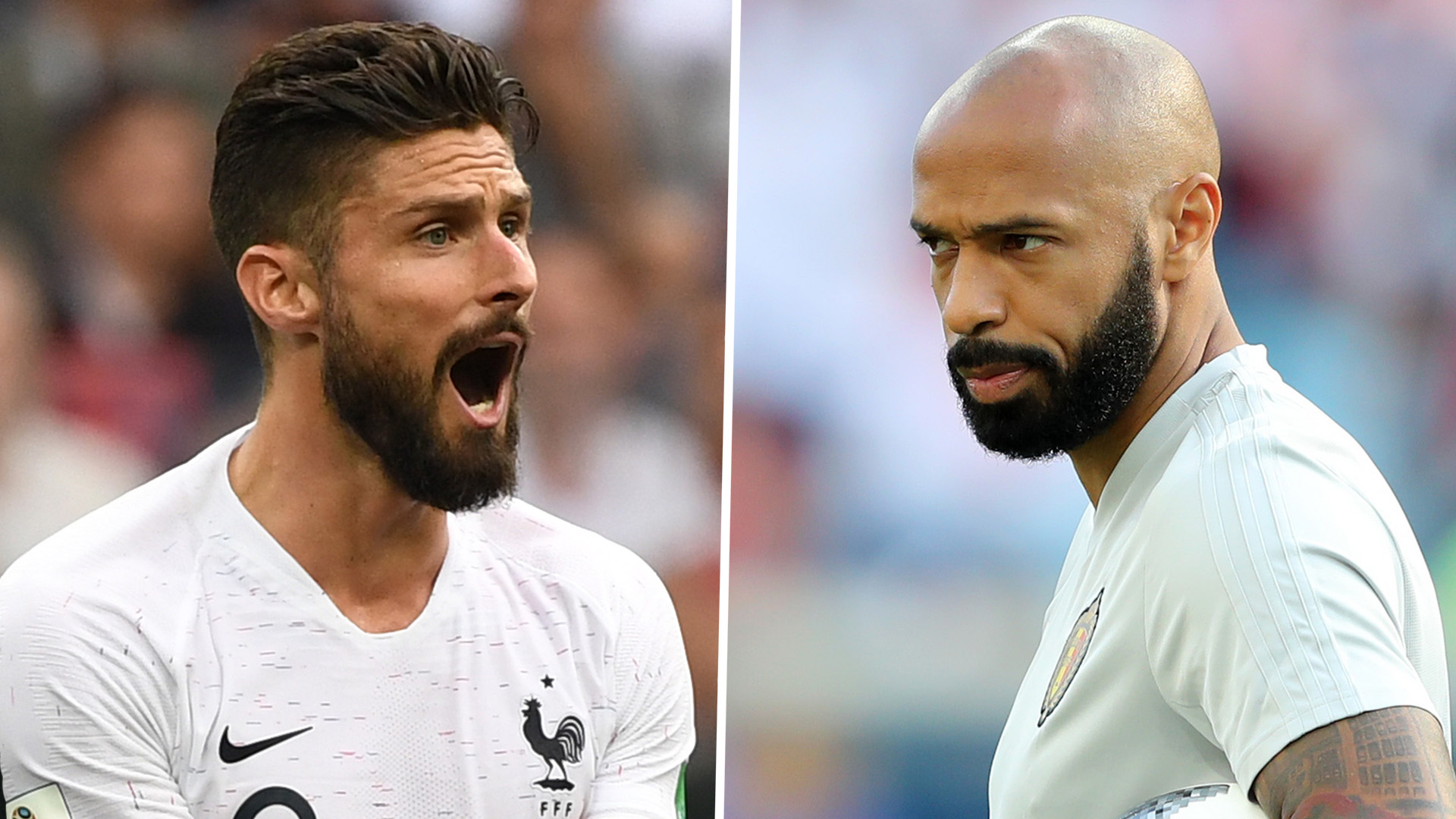 Belgium assistant coach Thierry Henry in the 'wrong camp', says Giroud