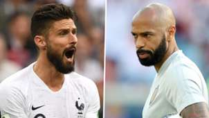 Olivier Giroud Thierry Henry France Belgium 2018 World Cup