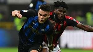 Lautaro Martinez Kessie Milan Inter Serie A