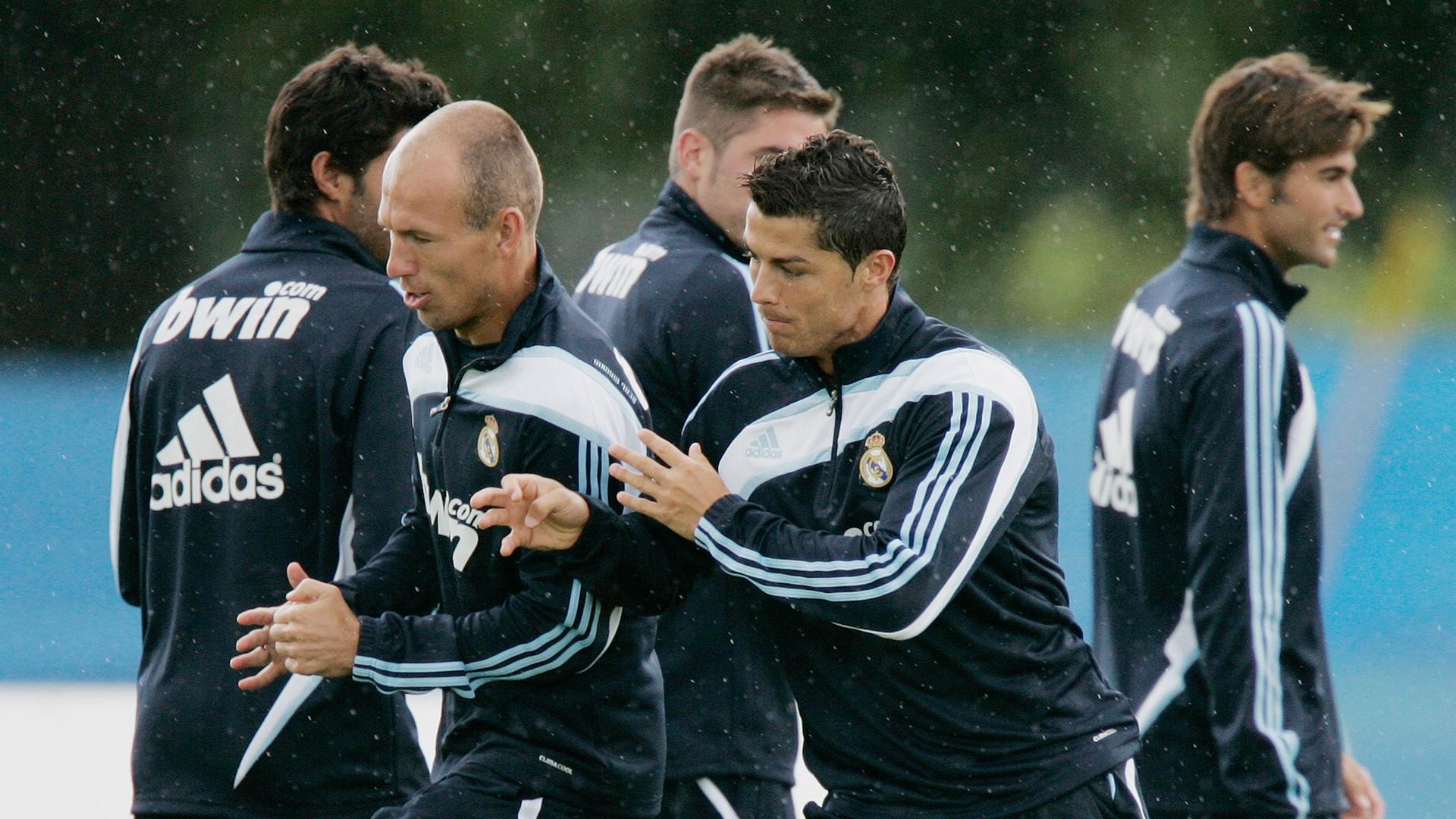Arjen Robben Cristiano Ronaldo Real Madrid