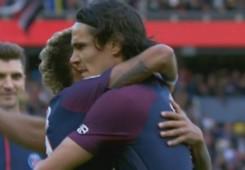neymar cavani abrazo
