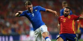 Andrea Belotti Dani Carvajal Spain Italy WC Qualifiers