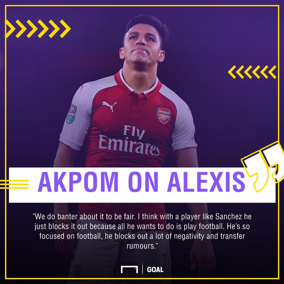 Chuba Akpom Alexis Sanchez Arsenal transfer banter
