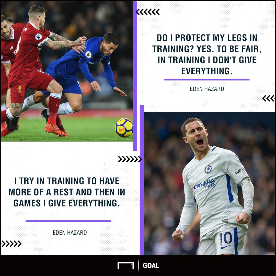 Eden Hazard Chelsea training breaks rest