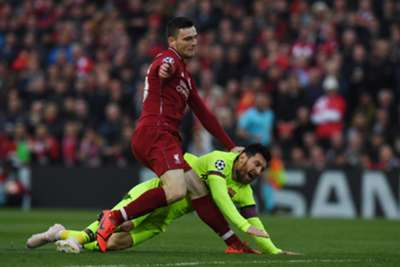 Andrew Robertson Lionel Messi Liverpool Barcelona UEFA Champions League 05/07/19
