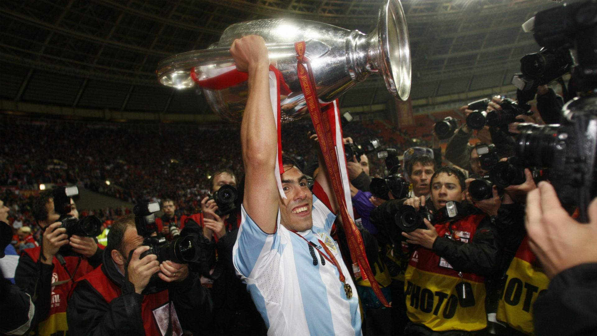 Carlos Tevez final Champions League 2008 Manchester United Chelsea