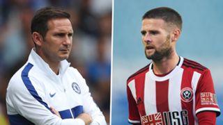 Frank Lampard Oliver Norwood Chelsea Sheffield United
