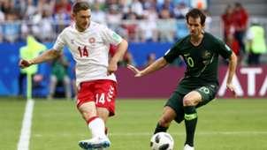 Denmark Australia Henrik Dalsgaard Robbie Kruse WC 2018