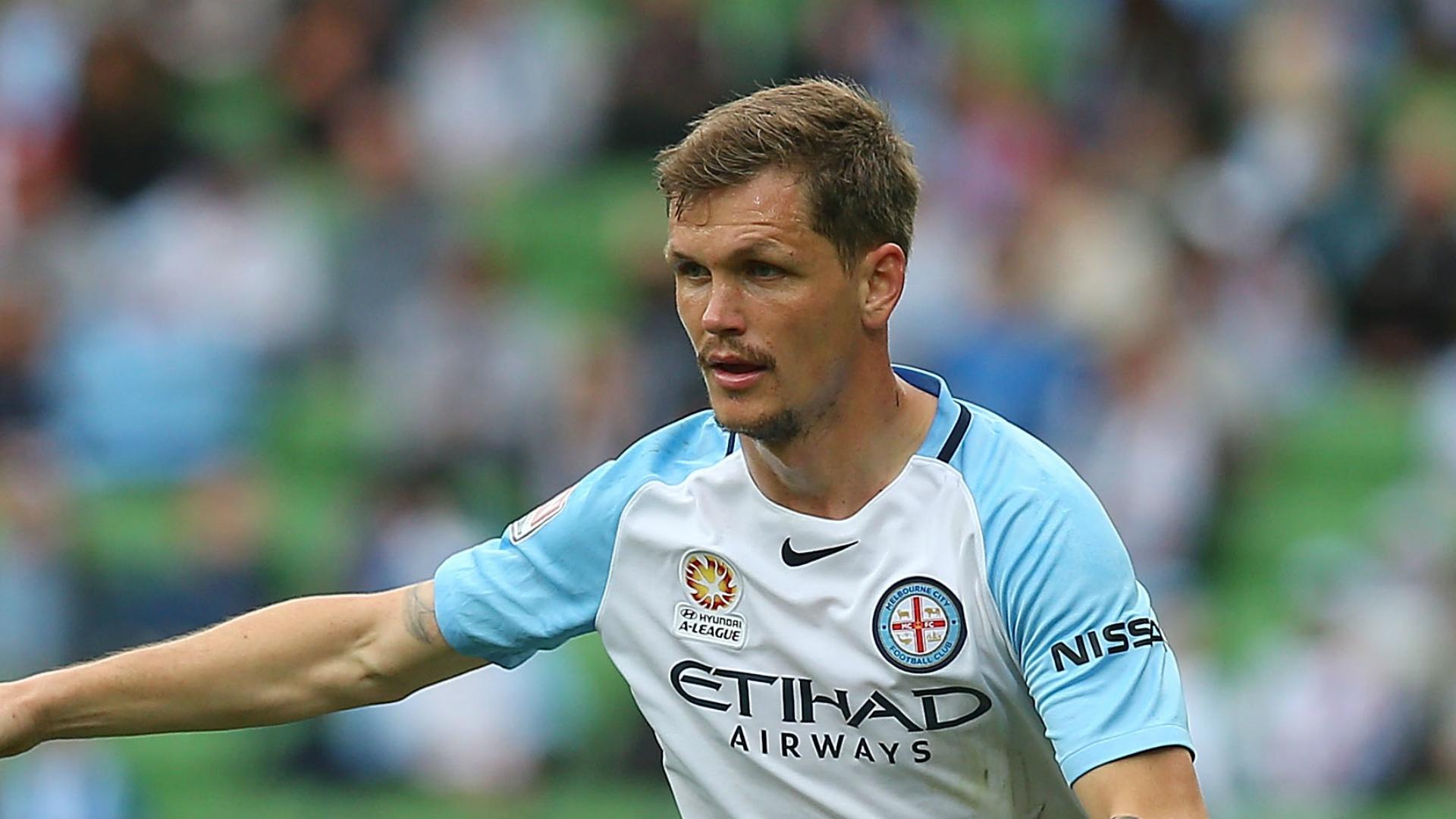 Michael Jakobsen Melbourne City v Wellington Phoenix A-League 27112016