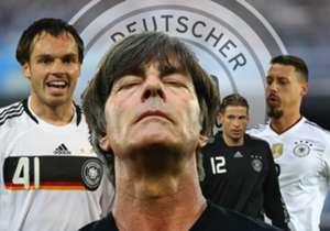 Joachim Low telah menjadi pelatih Jerman sejak 2006 dan Goal menyajikan deretan bintang yang mendapat kesempatan debut di tangan dingin sang pelatih.