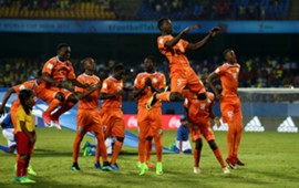 Niger players celebrate