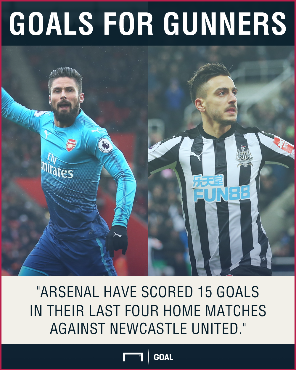 Arsenal Newcastle graphic